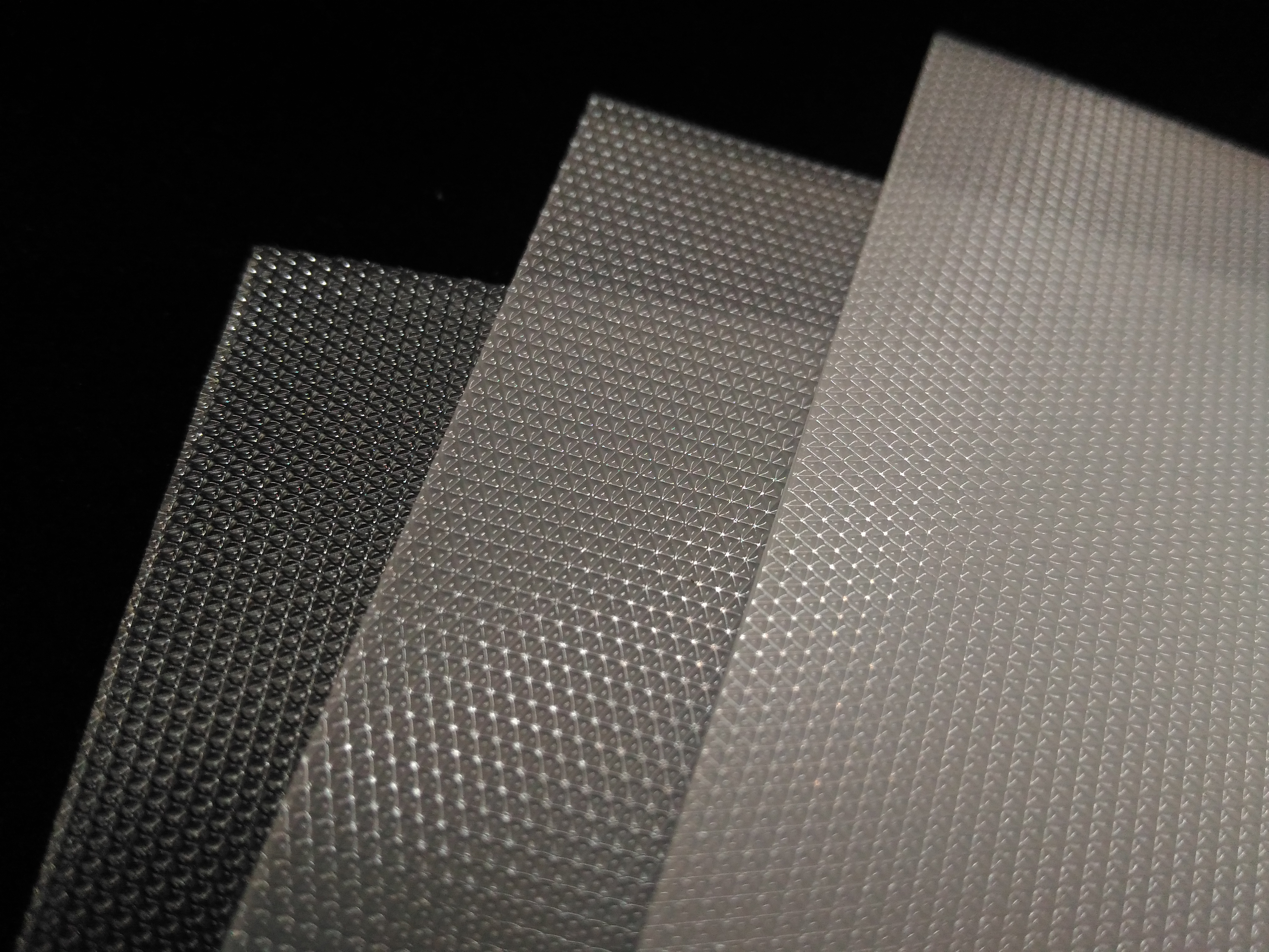 Micro prism diffuser sheets for LED, PS material for office